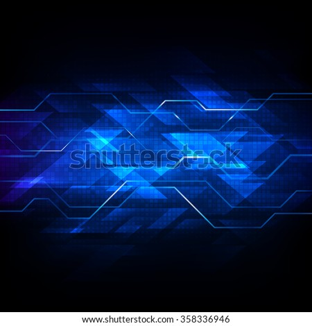 Abstract vector digital technology background - stock vector