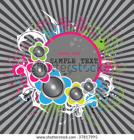 abstract vector disco background
