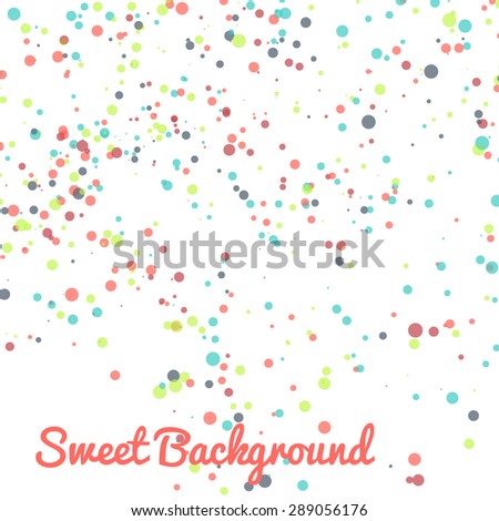 Abstract vector dot background. Colorful dotted pattern. - stock vector