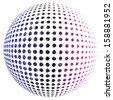 Abstract vector dotted sphere. - stock vector