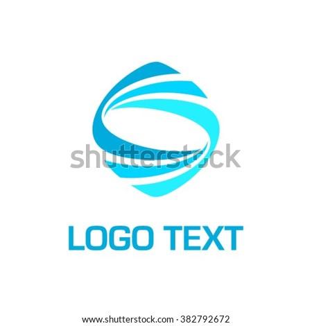 Abstract Vector Dynamic Shaped logo - stock vector