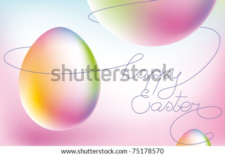 abstract vector easter - stock vector