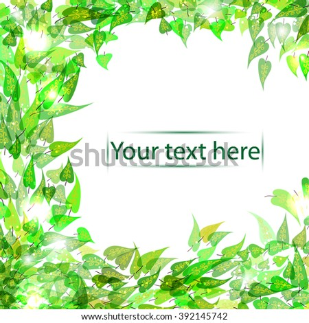 abstract vector eco frame or background for your design