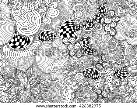 Abstract vector endless seamless pattern flowers stock for Can you dye roses