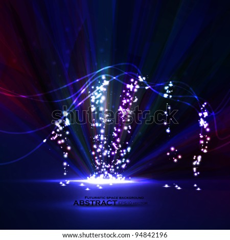 Abstract vector eps10. Creative dynamic element,  light lines Illustrations. - stock vector