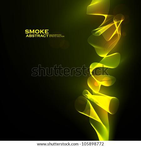 Abstract vector eps10. Creative dynamic, magic smoke Illustrations. - stock vector