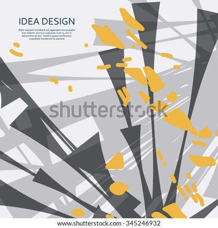 Abstract vector explosion. Dirty background for design. - stock vector