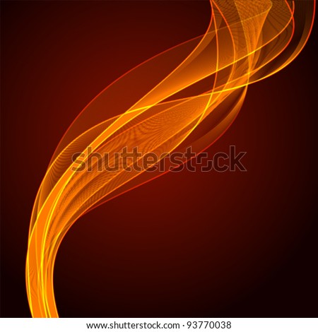 Abstract vector flame - stock vector