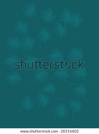 abstract vector floral background - stock vector