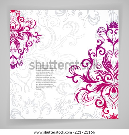 Abstract vector floral background with oriental flowers. - stock vector