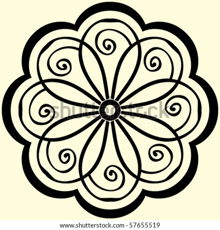 abstract vector flower - stock vector
