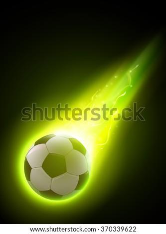 abstract vector football/soccer ball illustration - stock vector