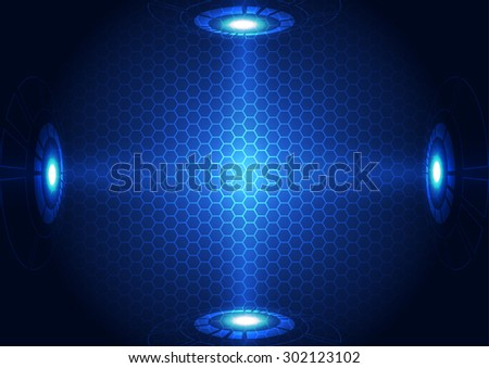 abstract vector future technology concept background illustration