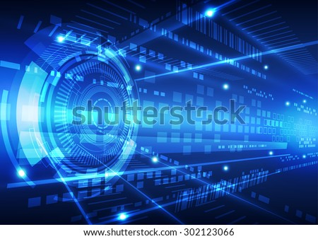 abstract vector future technology data background illustration - stock vector
