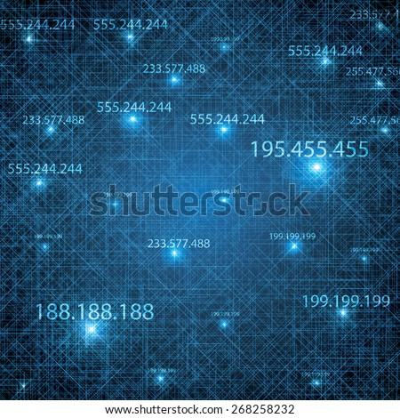Abstract vector futuristic blue background illustration  - stock vector