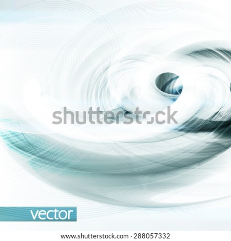 Abstract vector futuristic illustration eps10, creative dynamic element. - stock vector