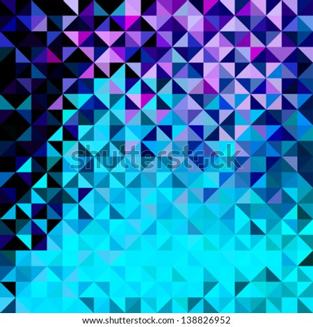 Abstract Vector Geometric Color Background - stock vector