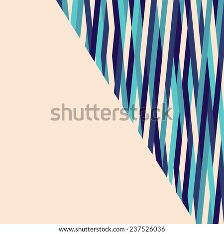 Abstract vector geometric striped background - stock vector