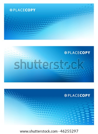 abstract vector graphic template set - stock vector