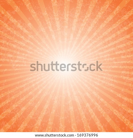 Abstract vector grungy background with a burst.