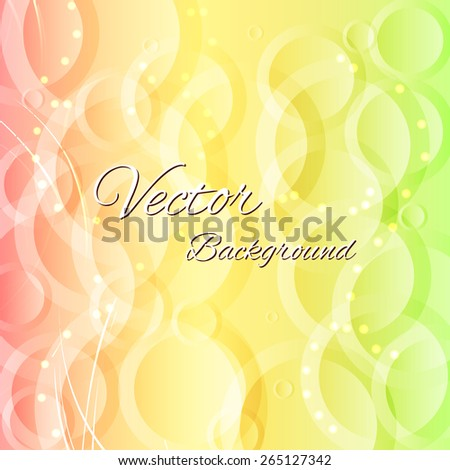 Abstract vector illustration made from rings for background. - stock vector