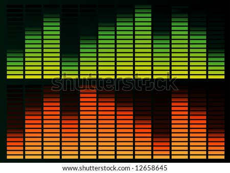 Abstract vector illustration of a graphic equalizer - stock vector