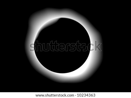 Abstract vector illustration of a solar eclipse - stock vector