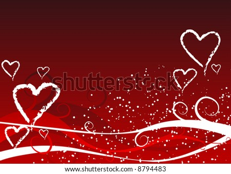 Abstract vector illustration of a valentines background
