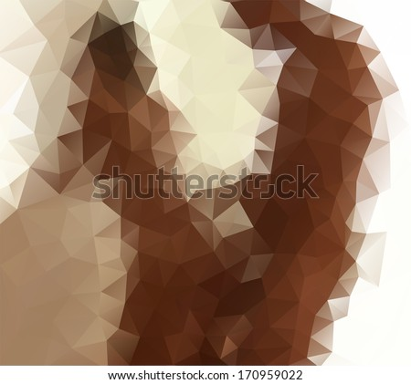 Abstract vector illustration of a young naked couple having implied passionate erotic sex - stock vector