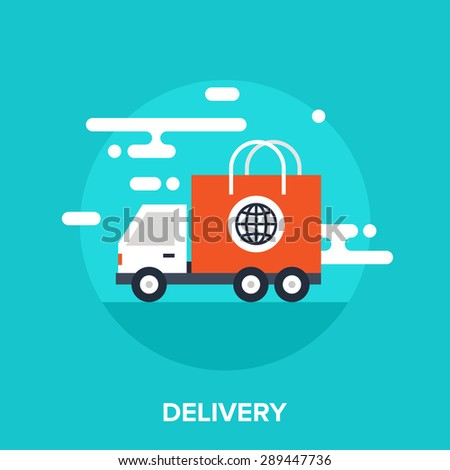 Abstract vector illustration of delivery flat design concept. - stock vector