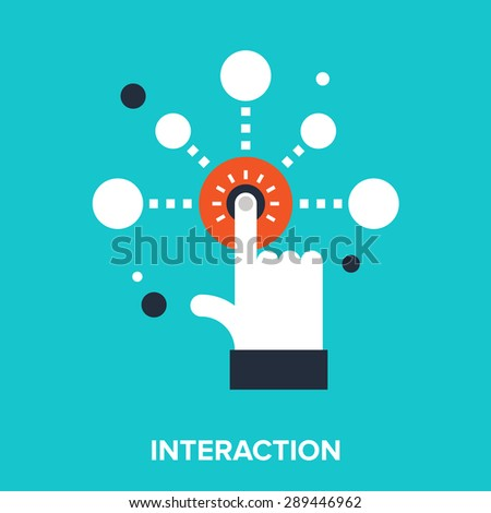 Abstract vector illustration of interaction flat design concept. - stock vector