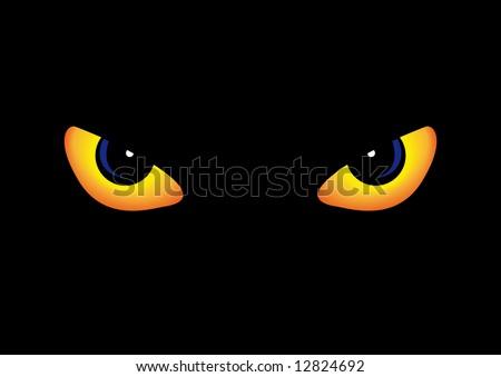 Abstract vector illustration of some predator eyes - stock vector