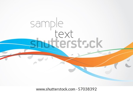 Abstract vector illustration with color lines and gradient background
