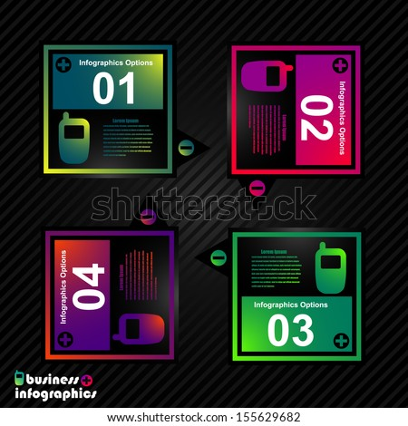 Abstract vector infographics - business elements, web banners - stock vector