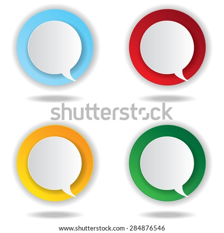 Abstract vector labels set