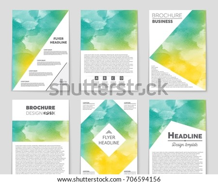 Abstract triangle brochure flyer design vector stock for Art brochure template