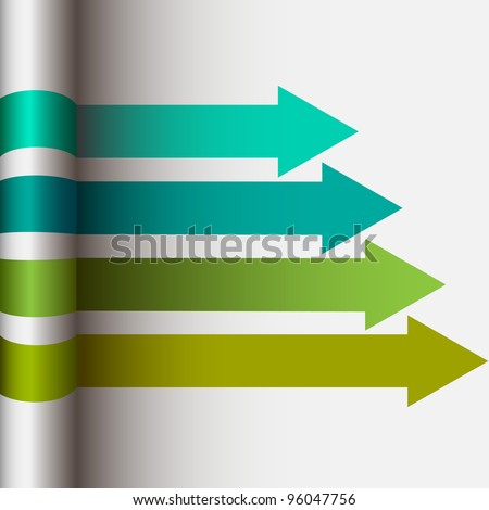 Abstract vector layout design with arrows - stock vector