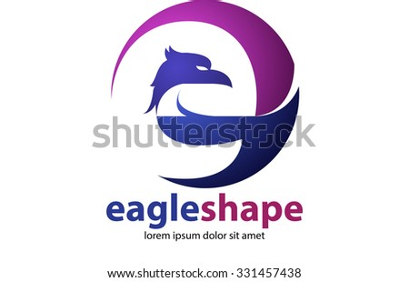 Abstract Vector Letter E Shape Head Stock Vector 331457438