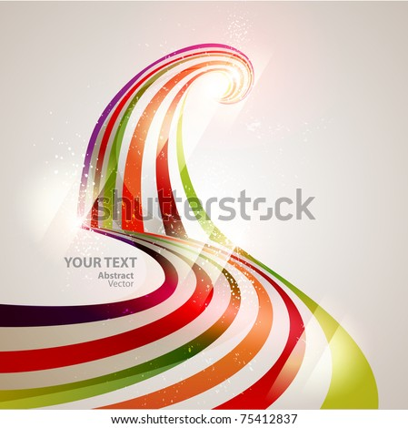 Abstract vector line - stock vector