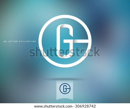 Abstract Vector Logo Design Template. Creative Concept Round Icon. Letter G Stylization  - stock vector
