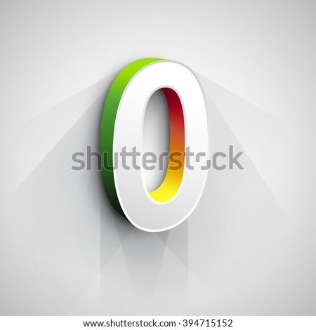 Abstract Vector Logo Design Template. Creative 3d Concept Icon. Letter O Stylization  - stock vector