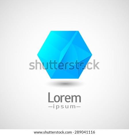 abstract vector logo hexagon ice.  - stock vector