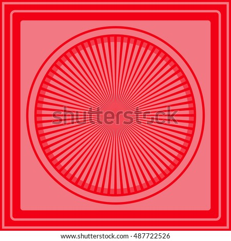 Abstract vector logo. Wheel. Luxurious red circle