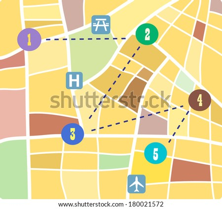 Abstract vector map