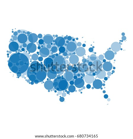 Abstract Vector Map United States America Stock Vector 680734165