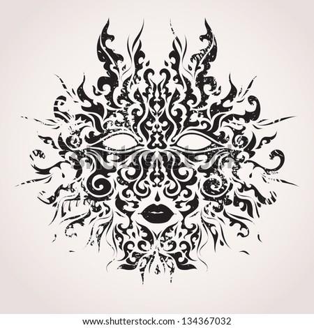 Abstract vector mask - stock vector