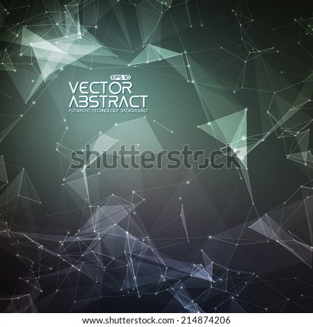 Abstract vector mesh background. Futuristic technology style. Elegant background for business presentations. Eps 10
