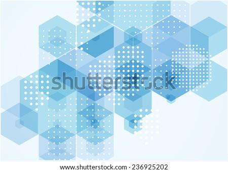 Abstract vector modern flyer. - stock vector