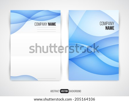 Abstract vector modern flyer / brochure design template with colorful background. - stock vector