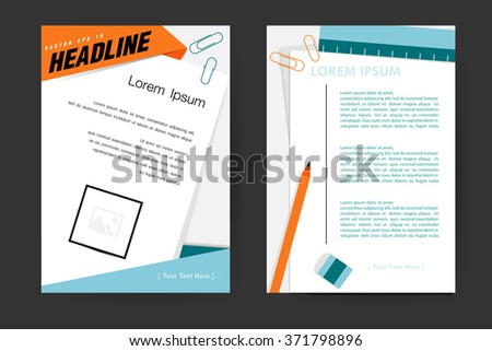 Abstract vector modern flyers brochure, booklet, annual report,design templates with white background in size a4. - stock vector